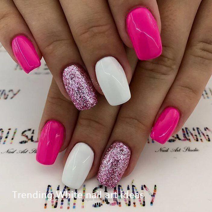 30 Simple Trending White Nail Design Ideas Naildesigsn Bright Nail Designs Nail Designs Bright Pink Nails