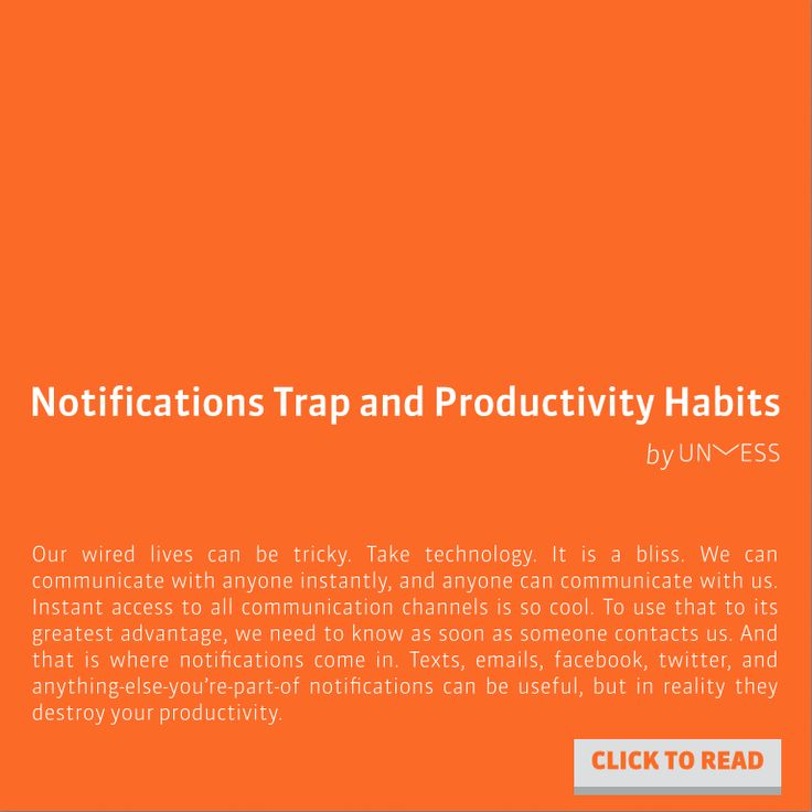 How to avoid notification traps