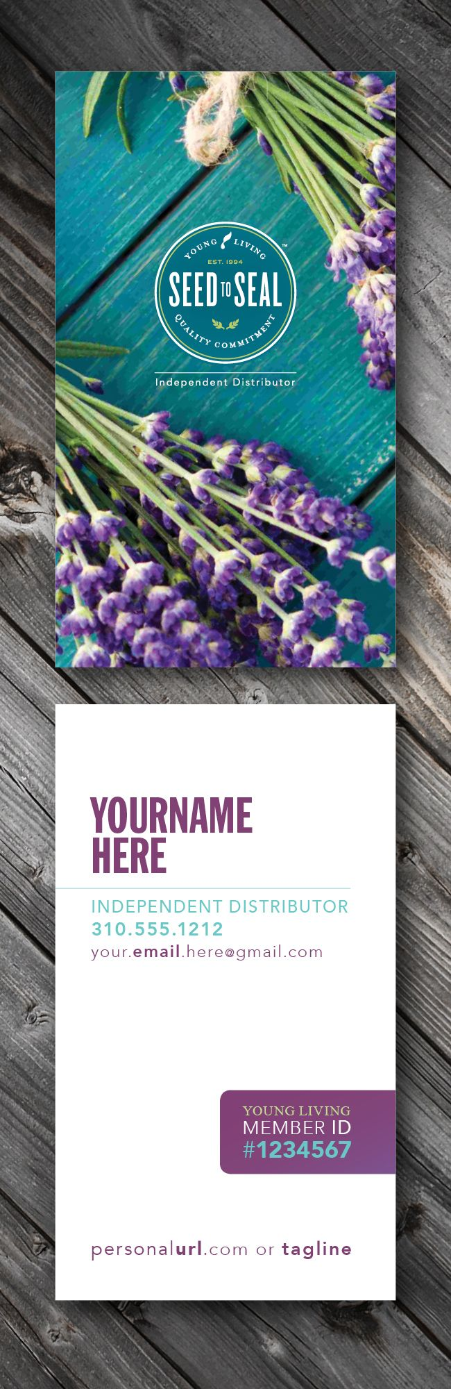 Personalized YOUNG LIVING business cards \\ THICK Luxury Paper