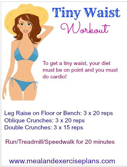 Tiny Waist Workout | Workout Monday « Decembers Fitness Meal and Exercise Plans