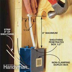 wiring garage electrical work