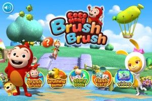 Brush Brush Cocomong - This app features a half-monkey and half-sausage creature, Cocomong is your child's friendly tour guide to effortless teeth brushing. It's sure to get your kids excited about brushing their teeth. The characters are pretty adorable already, but get this — each one is an animal and food hybrid. Ahrome, one of Cocomong's cute friends, is a mix between a boiled egg and a rabbit and Ohmong, Cocomong's pet, is part fried shrimp and part dog. Click the image for our full…
