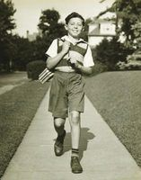 The average boy in the 1930s had relatively few sets of clothing.