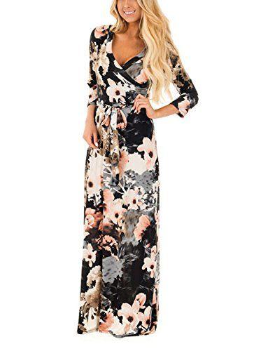 b49767c2ee1 Femme Robe Longue Fleurie Bustier Bandeau Robe de plage Bohême Epaule nu  Imprimé Dress été pour