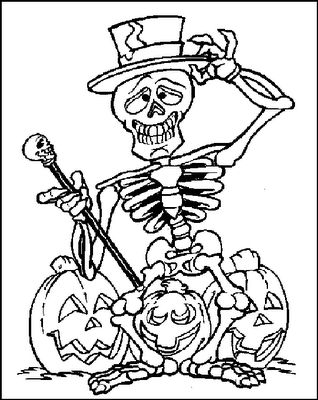 Printable Halloween Spider Coloring Pages | Halloween Cards: Happy Halloween Coloring Pages