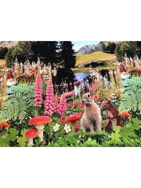 Bomuldsjersey - herlig kanin rapport på tværs