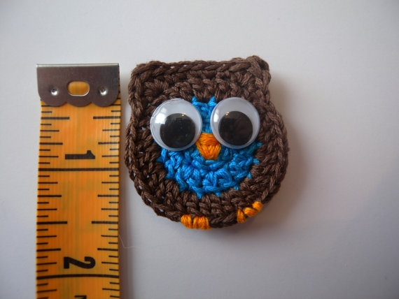 Owl pin on Applique by HootsHookNook on Etsy, $4.50