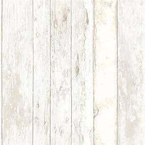 Vliesové tapety, drevené dosky s bielou patinou, Exposed PE10030, GRANDECO, rozmer 10,05 m x 0,53 m