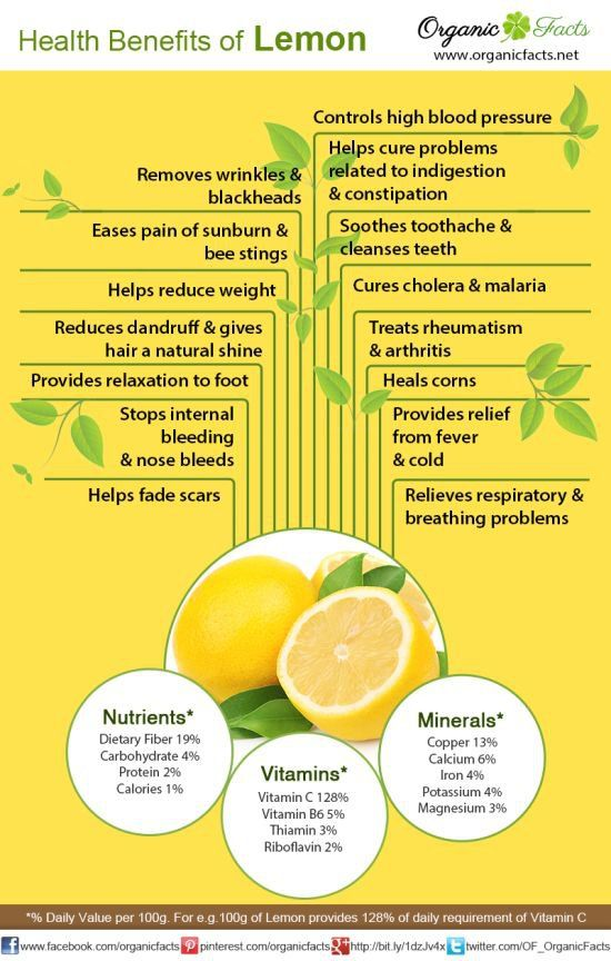 Health benefits of lemon include its use as a treatment of throat infections, indigestion, constipation, dental problems, and fever, internal bleeding, rheumatism, burns, obesity, respiratory disorders, cholera and high blood pressure, while it also benefits hair and skin care- Organic Facts