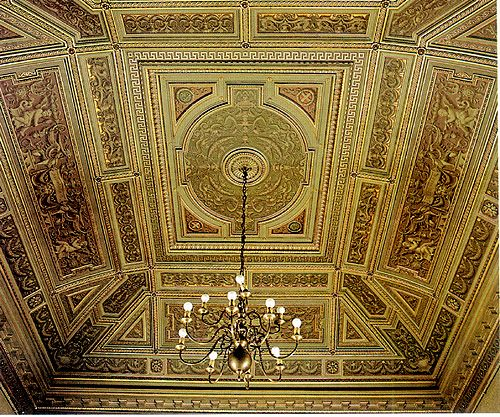 (1675) Palazzo Cisterna - La salle au plafond vert