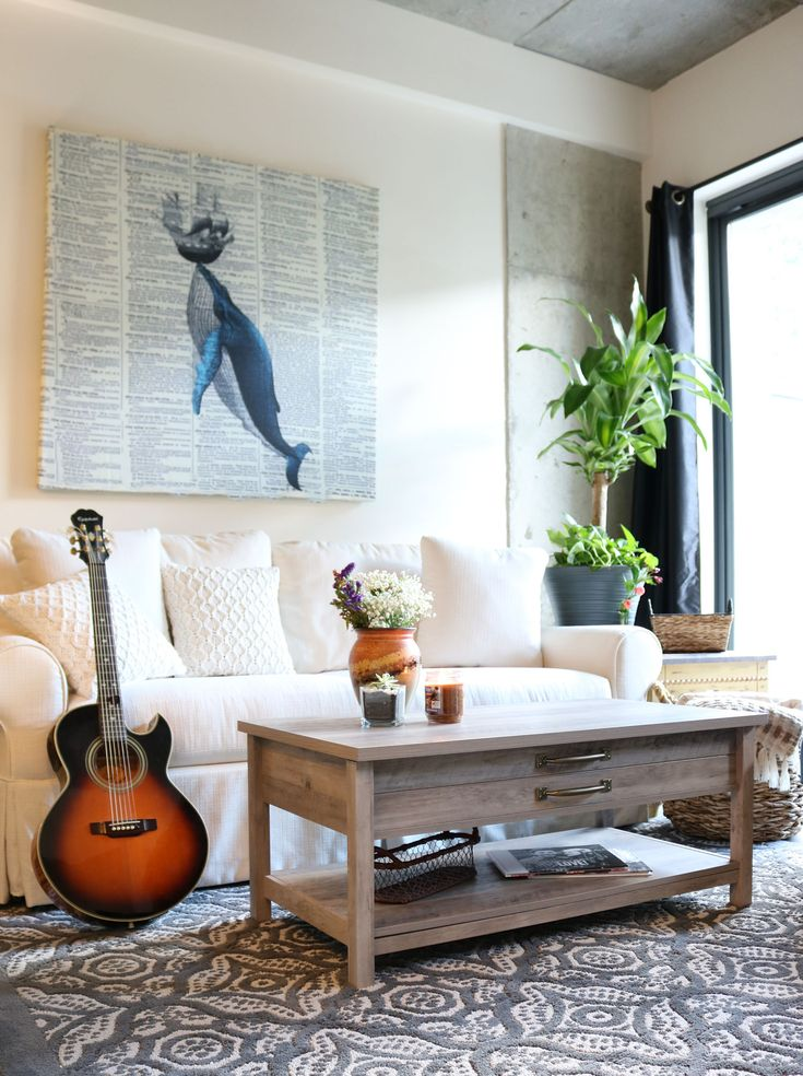 Affordable Decorating Ideas For Living Rooms: Minimalist Loft Style Apartment
