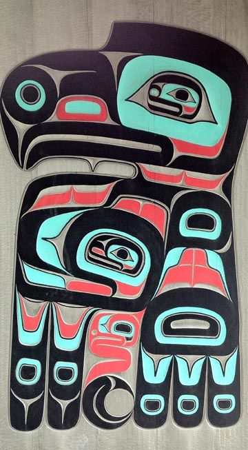 Tlingit Eagle carving