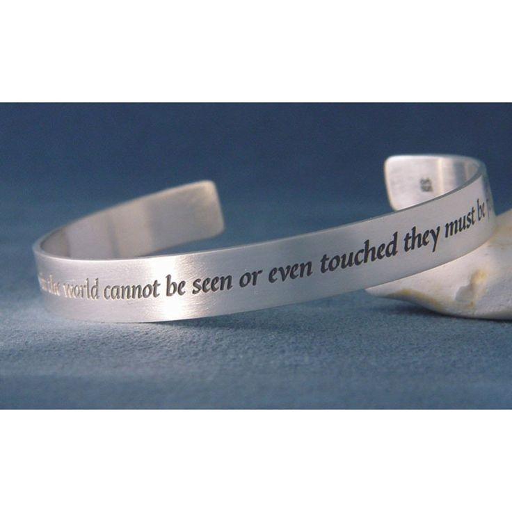 The emotions that can be felt with the heart - love, hope, joy, faith, compassion - make up what is the best in us. Remarkably this beautifully eloquent quotation was written when Helen Keller was only eleven years old and has been elegantly engraved on a cuff bracelet with her name inscribed on the interior. #ValentinesDay #gift #gifts #jewelry #cuff #HelenKeller #love