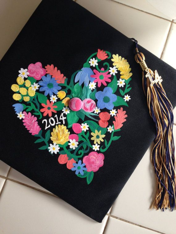 Custom Graduation Cap Design by BraleeByHand on Etsy                                                                                                                                                                                 More