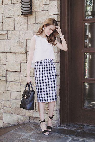 Egoist Skirt, Apartment 8 Top, 3.1 Phillip Lim Bag, Sheen Watch, Randa Heels