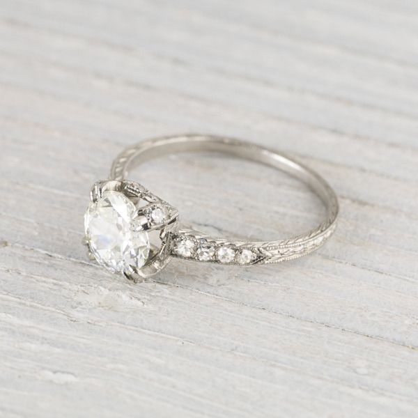 I LOVE this ring .88 Carat Vintage Art Deco Engagement Ring | Erstwhile Jewelry Co.