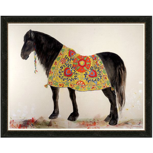 Soicher Marin Boho Horse Framed Print (4,725 ILS) ❤ liked on Polyvore featuring home, home decor, wall art, art, horse wall art, boho wall art, horse home decor, colorful home decor and bohemian wall art