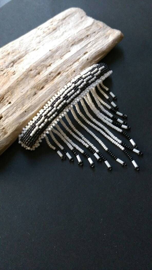 Native American Indian Jewelry Hand Beaded Vintage Hair