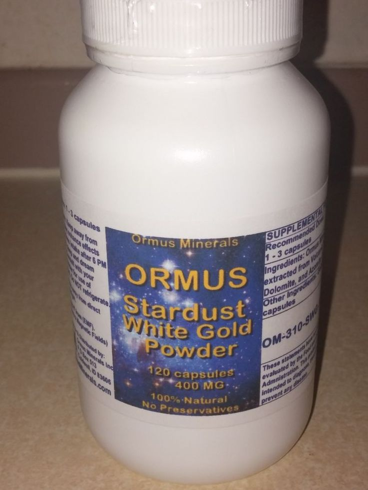 Omus white powder gold MONATOMIC GOLD 120 Count #OrmusMinerals