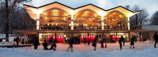 le Pavillon sur le lac des castors Mont-Royal  Montréal Canada