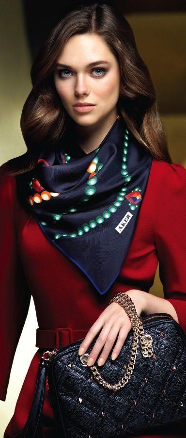 Latest fashion trends: Fashion trends   Aker printed silk scarf