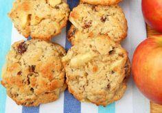 Galletas de avena y manzana saludables. Receta fácil de galletas de avena y manzana, sanas y deliciosas. Hechas con aceite de oliva, no mantequilla.