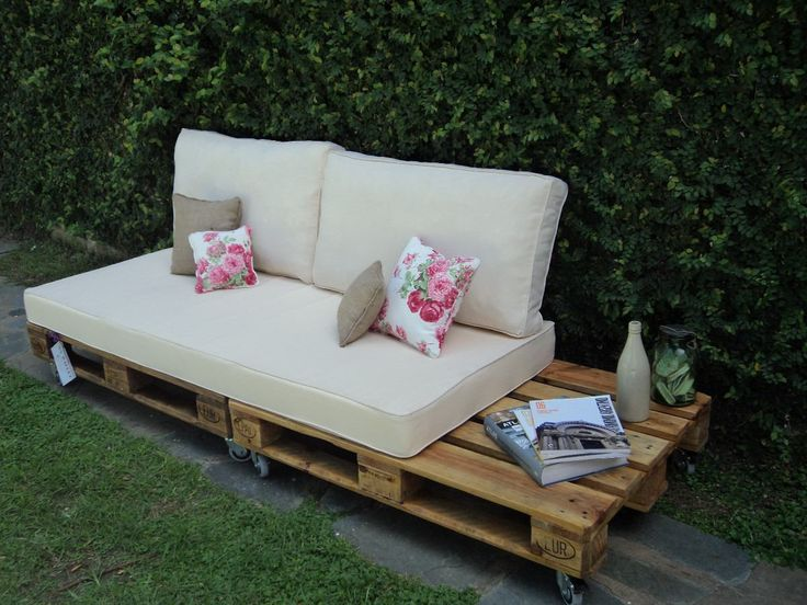 Sillon dos cuerpos pallet palet my pallet for Sillones para patio