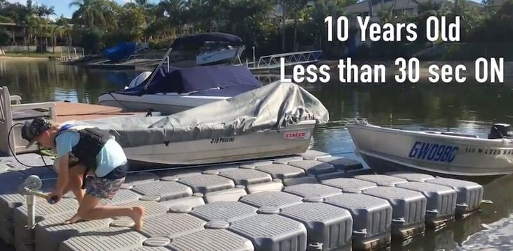 Easy On and Off for a Tinny - see how a 10yr old has his tinny on in less than 30 seconds!