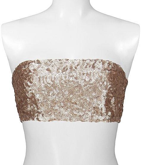 BKE Boutique Sequin Bandeau Top - Women's Shirts/Tops | Buckle