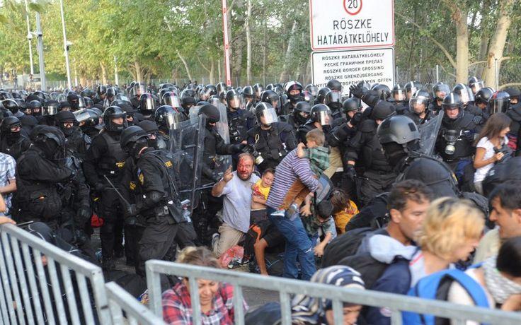 Giornalisti danesi sbattute con manganelli dalla polizia ungherese | Journalisten.dk