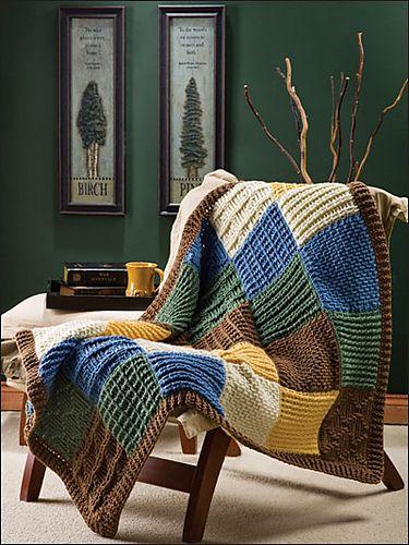 Ravelry: Post Stitch Patchwork pattern by Marty Miller.