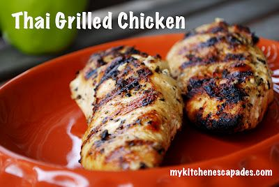 Thai Grilled Chicken - perfect for summer!