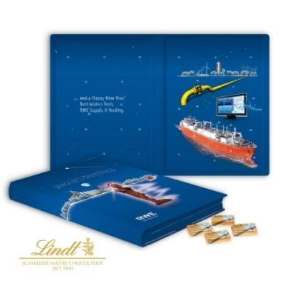 Image of Lindt Promotional Book Calendar.Printed Lindt Chocolate Book Advent Calendar