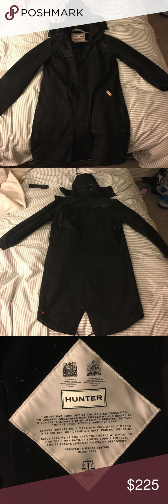 Men's Hunter Rain/Snow Jacket Men's Hunter Rain/Light snow Jacket. Worn once - in fantastic condition! Runs big. No trades or PayPal. Offers accepted :) Hunter Jackets & Coats Raincoats