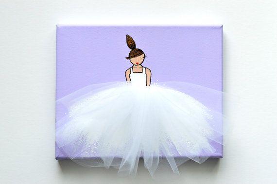 Bailarina Art decoración de habitación de la por ShenasiConcept
