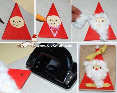 knutselen met kinderen tijdens kerst DIY kerstman