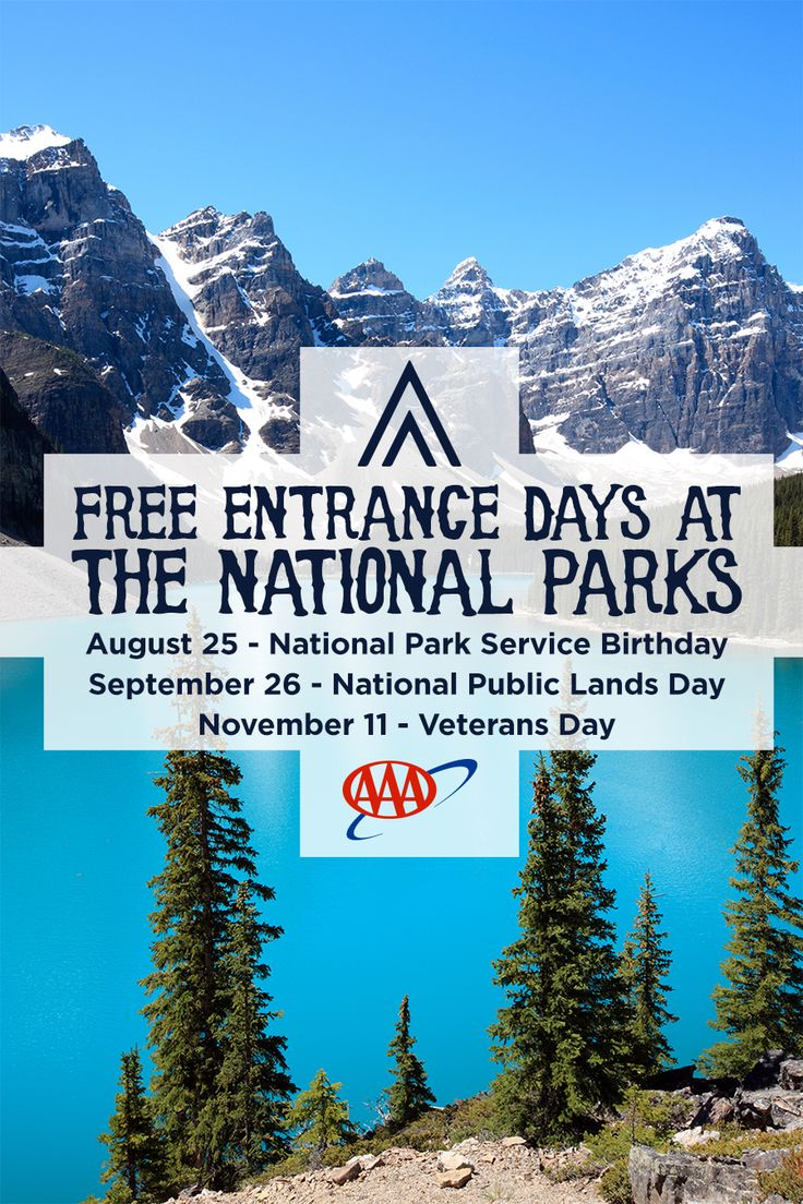 Mark your calendar for these entrance fee–free dates in 2015. The fee waiver includes entrance fees, commercial tour fees, and transportation entrance fees.