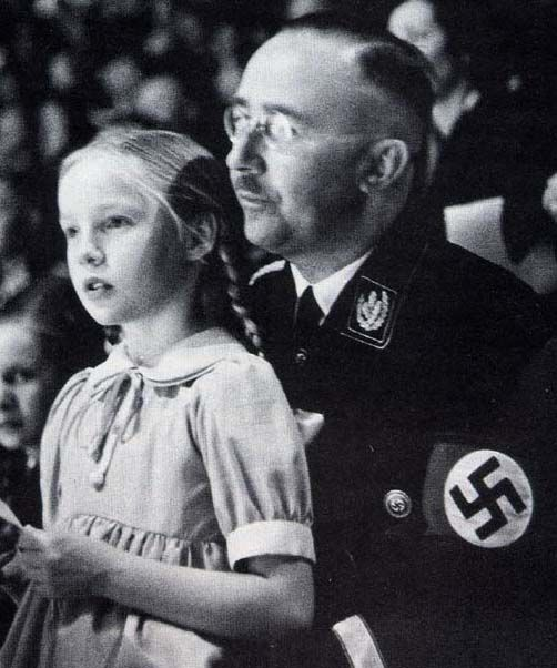 See Dennis Hastert with this child when you look at the pic of this man (Heinrich Himmler): Very few people know some of the bizarre atrocities Hitler authorized to further his aim of making so called Aryan race the most dominant race of the world. A large number of babies were taken into large mansions and luxurious villas to be brought up as true Aryans. This Nazification program was dubbed as 'Lebensborn' by Hitler.