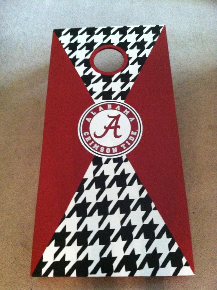 Alabama cornhole boards. Roll tide roll.