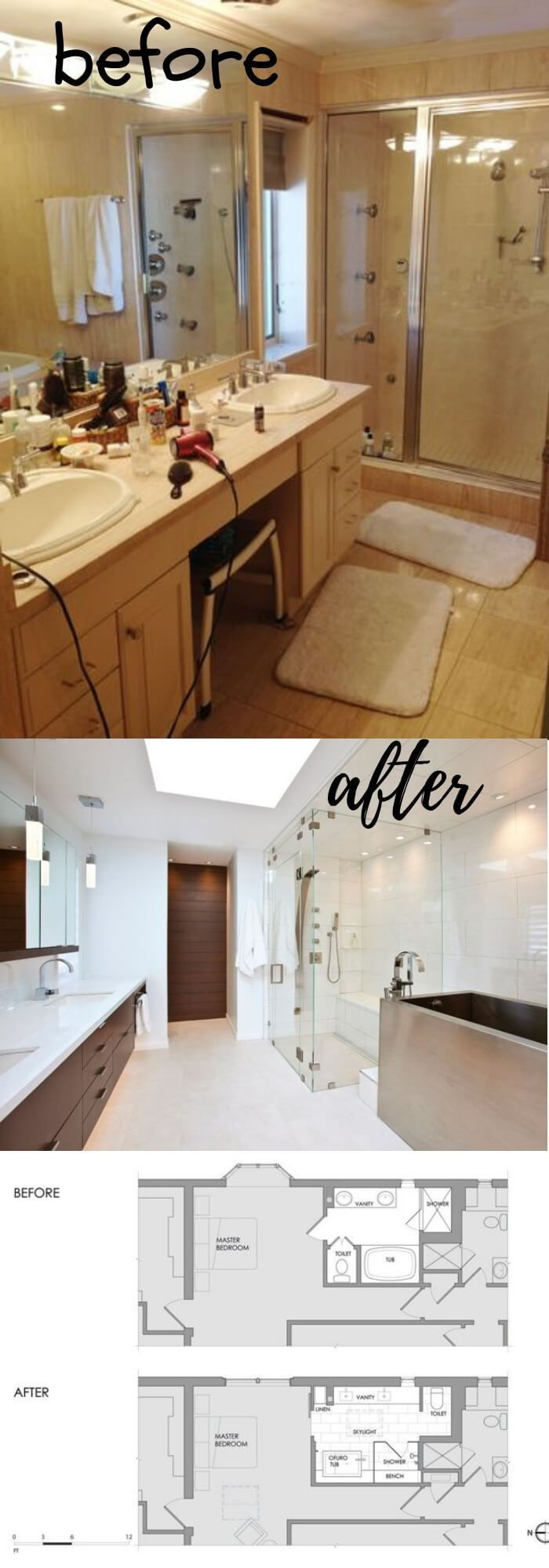 21 Stunning Before And After Bathroom Makeovers Bathroom Makeover Bathroom Makeovers On A Budget Small Bathroom