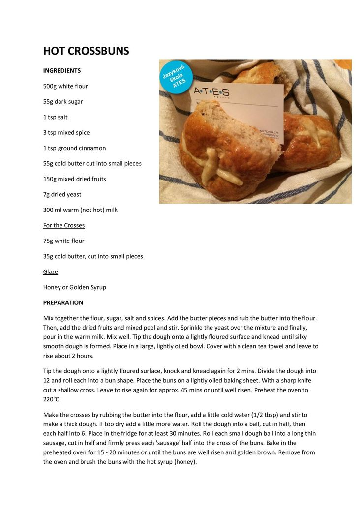 Velikonoční recept! Upečte si s námi vynikající Hot Cross Buns!