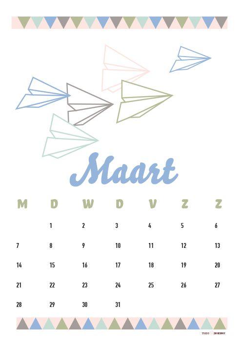 Kalender Maart 2016 #free #printable #freebie #gratis