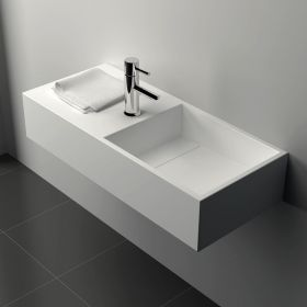 LAVABO MINERAL 75X32.5 cm, vasque droite