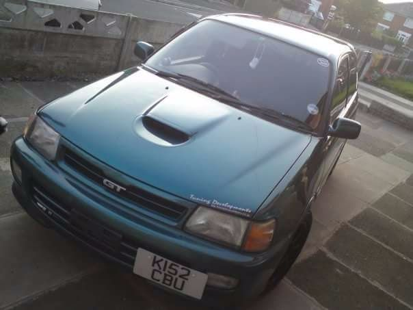 Check out this classic turbo. Toyota Starlet Gt Turbo