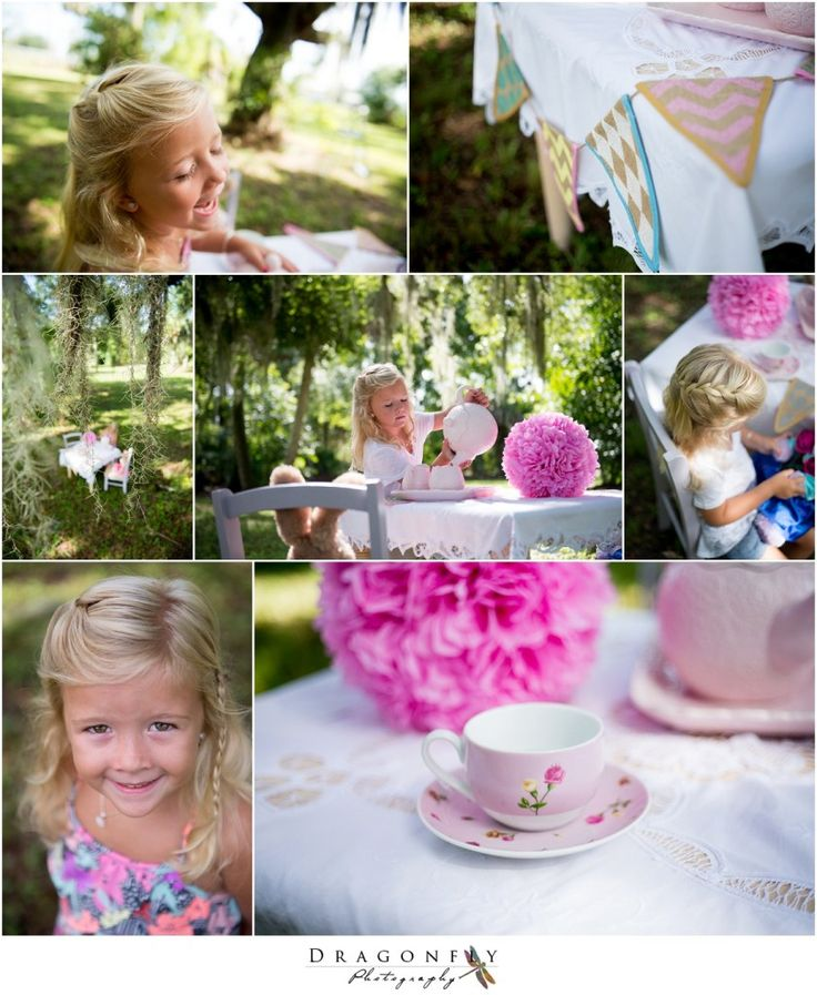 Dragonfly Photography, lifestyle wedding and portrait photography. Children's tea party lifestyle session, West Palm Beach, FL