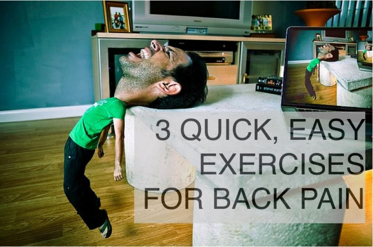 Three easy-to-follow exercises for fast relief from chronic lower back pain at home. Also, want to prevent back pain? Build strength and flexibility with these easy back exercises.