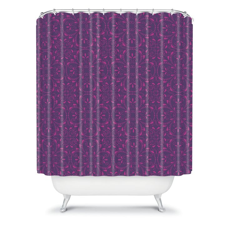 DENY Designs Khristian A Howell Provencal 1 Lavender Shower Curtain - 13018-SHOCUR