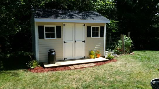 Sheds USA Installed Classic 8 ft. x 12 ft. Vinyl Shed V0812C at The Home Depot - Mobile
