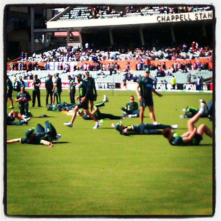 The Australian #Cricket team warming up for the Ashes @ #Adelaideoval #Adelaide #southaustralia #australia #southaustralia  #gadelaide