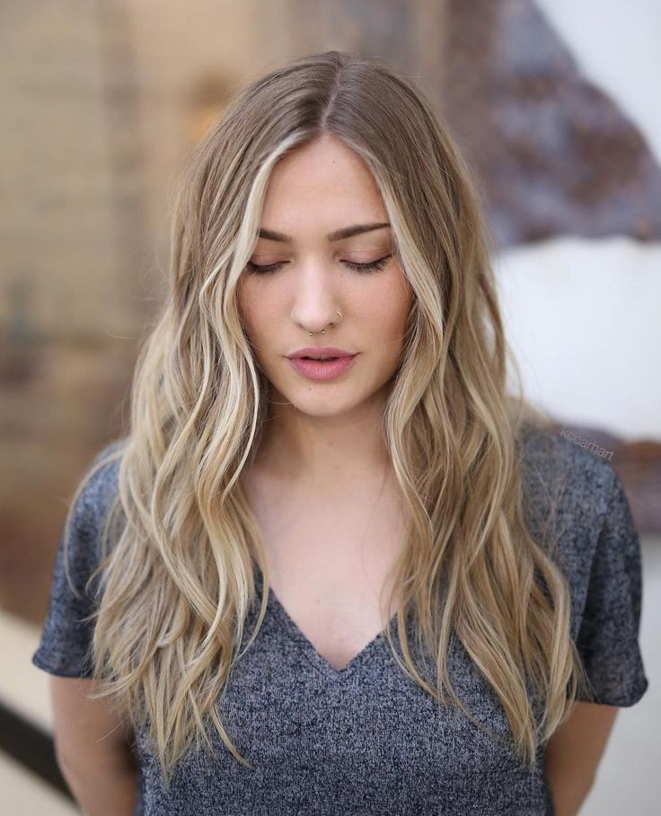 Centre-Parted Beach Waves Hairstyle
